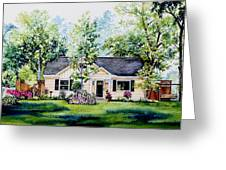 Houston House Portrait Greeting Card