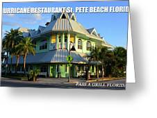 Hurricane Restaurant St. Pete Beach Greeting Card