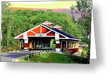 Huseston Woods Bridge Greeting Card
