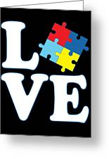 I Love Autism Greeting Card