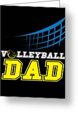I Love Volleyball Team Player Ball Greeting Card