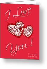 I Love You Hearts Greeting Card