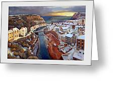 I Saw Three Ships Come Sailing In, On Christmas Day In The Morning. Greeting Card