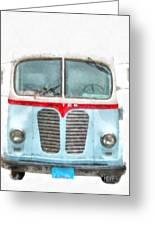 Ice Cream Food Truck Metro Van Greeting Card