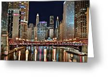 Iconic Night View Down The River Greeting Card