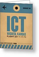 Ict Wichita Luggage Tag I Greeting Card
