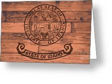 Idaho State Flag Brand Greeting Card
