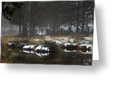 Idyllic Winter Landscape With A Frozen Lake At Troodos Mountai Greeting Card by Michalakis Ppalis