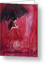 If It Rains Will You Be There For Me Greeting Card