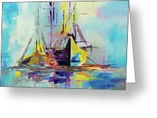 Illusive Boats Greeting Card