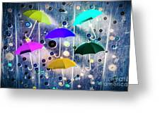 Imagination Raining Wild Greeting Card