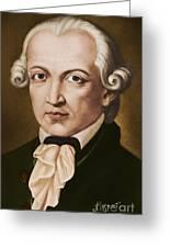 Immanuel Kant, Philosopher, Born In Konigsberg, Germany Greeting Card