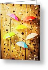 In Rainy Fashion Greeting Card