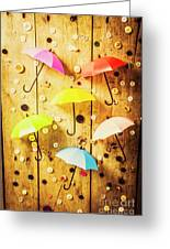 In Rainy Fashion Greeting Card