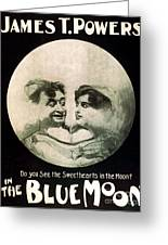 In The Blue Moon Greeting Card