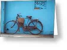 Indian Bike Greeting Card