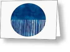 Indigo Moon- Art By Linda Woods Greeting Card