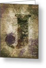 Industrial Letter J Greeting Card
