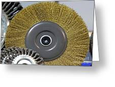Industrial Wire Brush Attachment Greeting Card