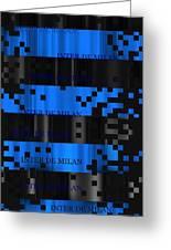 Inter Milan Pixels Greeting Card
