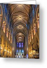 Interior Of Notre Dame De Paris Greeting Card