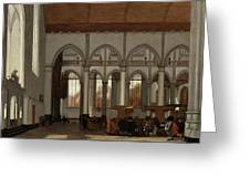 Interior Of The Oude Kerk  Amsterdam  Greeting Card