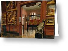 Interior View Of The Metropolitan Museum Of Art When In Fourteenth Street  Greeting Card
