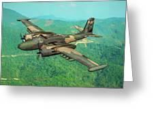Invader Over Vietnam - Oil Greeting Card