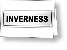Inverness City Nameplate Greeting Card