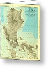 Island Of Luzon - Old Cartographic Map - Antique Maps Greeting Card