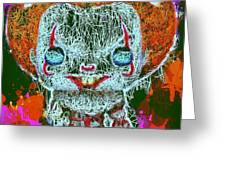 Pennywise Pop Greeting Card by Al Matra