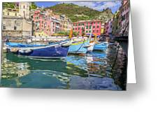 Italian Riviera Old Fashion Fishing Greeting Card