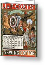 J /& P Coats Sewing Thread Vintage Advertising Art Print
