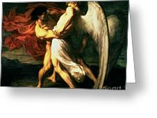 Jacob Wrestling With The Angel, 1865  Greeting Card