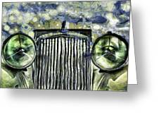 Jaguar Car Van Gogh Greeting Card