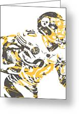 James Connor Pittsburgh Steelers Pixel Art 3 Greeting Card