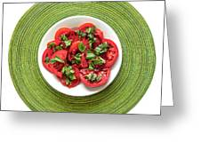Jane's Tomatoes Greeting Card by Jon Exley