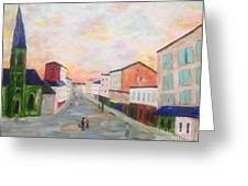 Japanese Colorful And Spiritual Nuance Of Maurice Utrillo Greeting Card