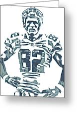 Jason Witten Dallas Cowboys Pixel Art 22 Greeting Card