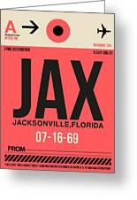 Jax Jacksonville Luggage Tag I Greeting Card