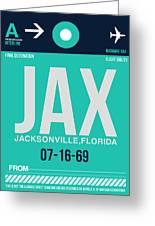 Jax Jacksonville Luggage Tag II Greeting Card
