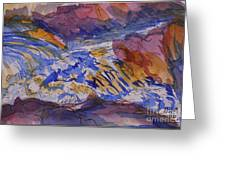 Jay Cooke Favorite Spot In Purple And Tan Greeting Card