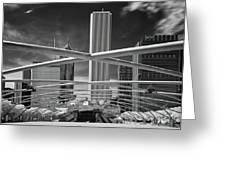 Jay Pritzker Pavilion Infrared Greeting Card