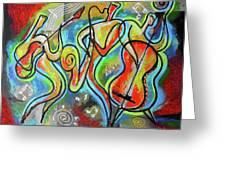 Jazz-swing Greeting Card