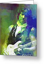 Jeff Beck, Love Is Green Greeting Card