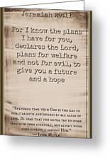 Jeremiah 29 11 Greeting Card