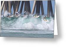 Jeremy Flores Surfing Composite Greeting Card