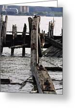 Jersey Broken Wharf II Greeting Card