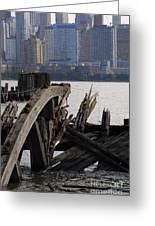 Jersey Broken Wharf IIi Greeting Card