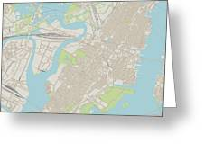 Jersey City New Jersey Us City Street Map Greeting Card